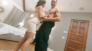 Dispirited giant breasted whorable MILF Alexis Fawx is hammered doggy hard