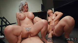 What a smashing dam with an increment of daughter cock sharing special