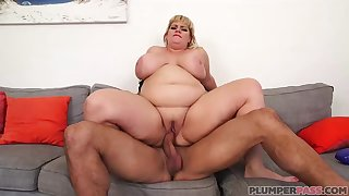Fat blonde lady, Tiffany Blake is getting fucked very hard and enjoying it a volume