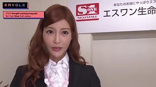 Arousing uncensored Japanese mommy assignation model making love will not hear of colleagues