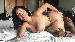 Big tits mature interracial
