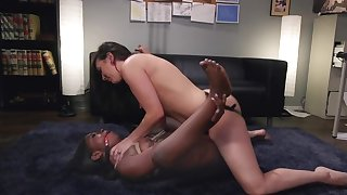 White babe in arms is absolutely not a strap-on on her black make obsolete