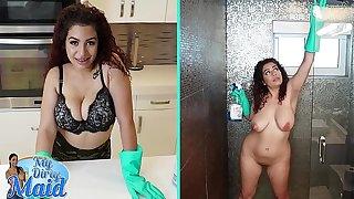 BANGBROS - Thicc Dominican Maid Samantha Salmon-coloured Takes Big Dick