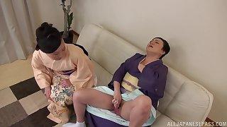 Horny Japanese chick Uekawa Haruko enjoys getting pleasured