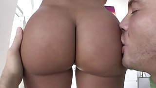 Perfect milf sucks dick then enjoys anal sex