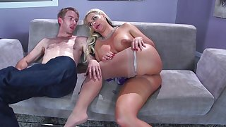 Step mom finds out that son's dick is way better than the hubby's