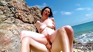 Nude mature fucked on holiday at near a shore trip
