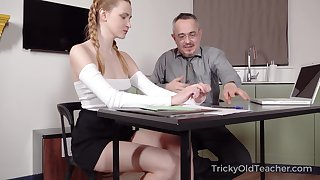 Ancient teacher is fucking pretty hot partisan Ivi Restriction with an increment of cums on her can